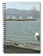 Seagull And Golden Gate Bridge Spiral Notebook