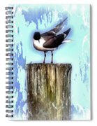 Seagull - Laughing Gull Pop Art  Spiral Notebook