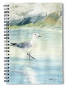 Seagull On The Beach Spiral Notebook