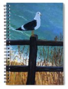 Seagull On The Fence Spiral Notebook