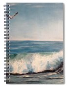Seagull With Wave  Spiral Notebook