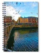 Seagulls Over Liffey Spiral Notebook