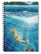 Seahorse Blues Spiral Notebook