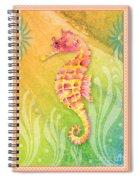 Seahorse Pink Spiral Notebook