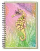 Seahorse Violet Spiral Notebook