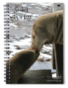 Sealed With A Kiss Spiral Notebook