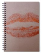 Sealed With A Red Kiss Spiral Notebook