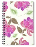 seamless   pattern of watercolor Fuchsia Flowers Spiral Notebook