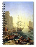 Seaport With The Embarkation Of Saint Ursula  Spiral Notebook