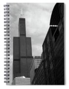 Sears Tower B-w Spiral Notebook