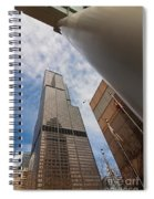 Sears Tower From Across The Street Spiral Notebook