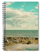 Seascape Cloudscape Retro Effect Spiral Notebook