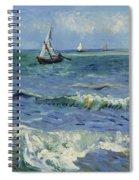 Seascape Near Les Saintes Maries De La Mer Arles June 1888 Vincent Van Gogh 1853  1890 Spiral Notebook