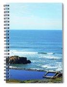 Seascape San Francisco Sutro Bath Pacific Ocean Shore Spiral Notebook