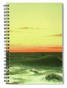 Seascape Sunset 1861 Spiral Notebook
