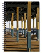 Seascape Walk On The Pier Spiral Notebook