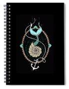 Seashell Mermaid Spiral Notebook