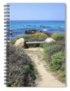 Seaside Bench Spiral Notebook