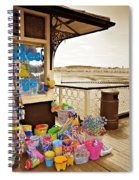 Seaside Buckets And Spades For Sale On Llandudno Pier Spiral Notebook