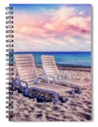 Seaside Chairs Spiral Notebook