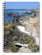 Seaside Flowers And Rocky Shore Spiral Notebook