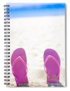 Seaside Holiday Concept With Copyspace Spiral Notebook