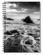 Seaside B/w  Spiral Notebook