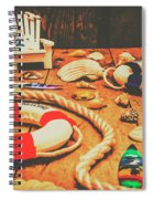 Seaside Ropes And Nautical Decks Spiral Notebook