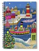 Seaside Santa Spiral Notebook