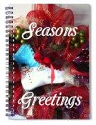 Seasons Greetings Old Skate Spiral Notebook