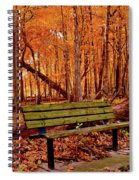 Seat To Autumn Spiral Notebook
