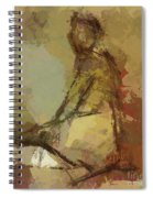 Seated Figure Spiral Notebook