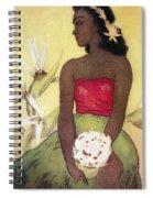 Seated Hula Dancer Spiral Notebook