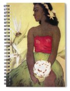 Seated Hula Dancer Spiral Notebook