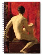 Seated Male Model Spiral Notebook