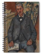 Seated Man  Spiral Notebook
