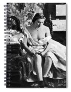 Seated Nude, C1861 Spiral Notebook