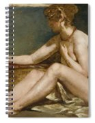 Seated Nude Spiral Notebook