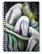 Seated Woman Abstract Spiral Notebook