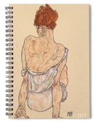 Seated Woman In Underwear Spiral Notebook
