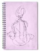 Seated Woman Spiral Notebook