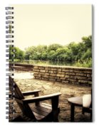 Seating For Two By The Creek Spiral Notebook