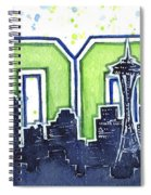 Seattle 12th Man Legion Of Boom Painting Spiral Notebook