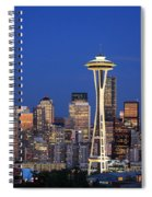 Seattle At Dusk Spiral Notebook