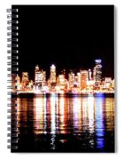 Seattle At Night - From Alki Beach Spiral Notebook