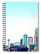 Seattle Blue Spiral Notebook