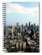 Seattle From Above Spiral Notebook
