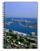 Seattle From Space Needle Spiral Notebook