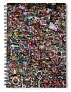 Seattle Gum Wall Spiral Notebook