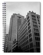 Seattle - Misty Architecture 3 Bw Spiral Notebook